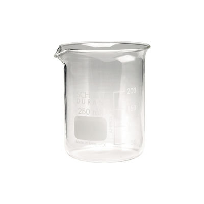 Glasbägare graderad låg 250 ml