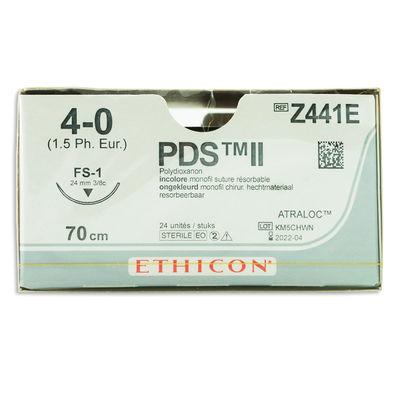 PDS II Z441E ofärgad 4/0 omvänt skärande nål FS-1 70 cm /24