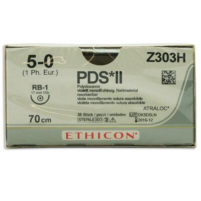 PDS II Z303H lila 5/0 rund nål RB-1 70 cm /36