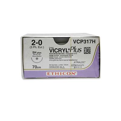 Vicryl Plus VCP317H lila 2/0 taperpoint nål SH 70 cm /36