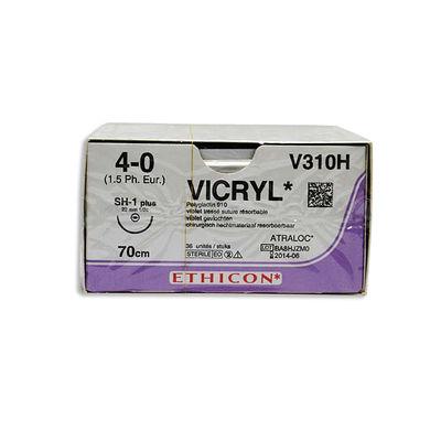 Vicryl V310H lila 4/0 taperpoint nål SH-1 70 cm /36
