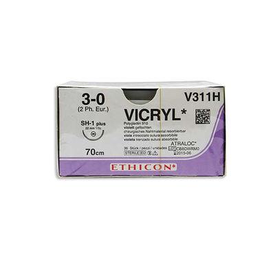 Vicryl   V311H lila 3/0 taperpoint nål SH-1 70 cm /36
