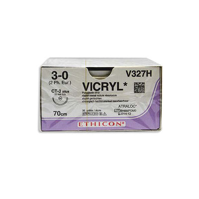 Vicryl V327H lila 3/0 taperpoint nål CT-3 70 cm /36