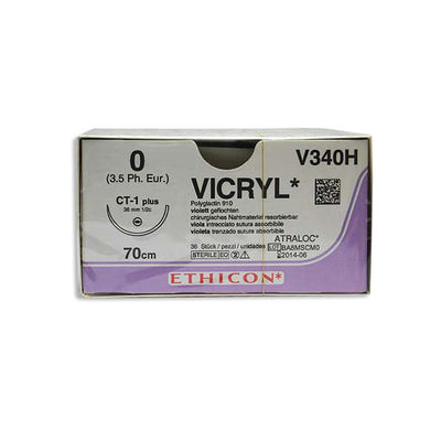 Vicryl V340H lila 0 taperpoint nål CT-1 70 cm /36