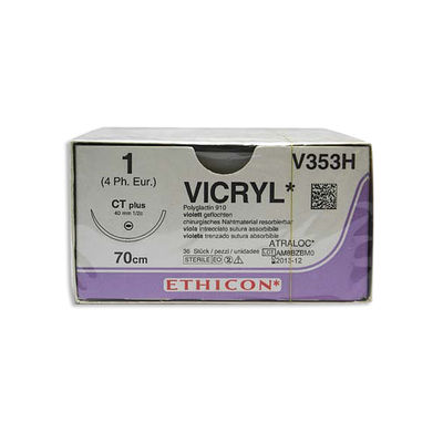 Vicryl V353H lila 1 taperpoint nål CT 70 cm /36