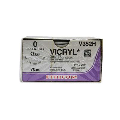 Vicryl V352H lila 0 taperpoint nål CT 70 cm /36