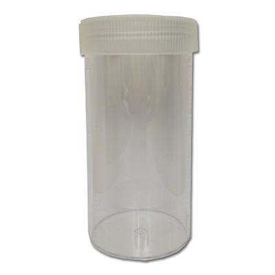 Bägare med skruvlock 500 ml hårdplast genomskinlig /st