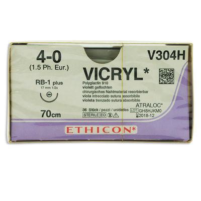 Vicryl V304H lila 4/0 taperpoint nål RB-1 70 cm /36