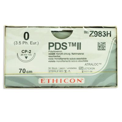 PDS II Z983H lila 0 omvänt skärande nål CP-2 70 cm /36