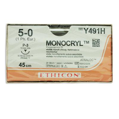 Monocryl Y491H lila 5/0 omvänt skärande nål P-3 45 cm /36