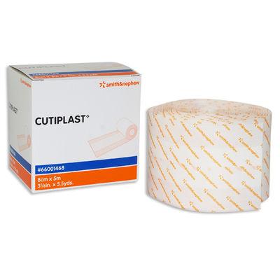 Cutiplast självhäftande kompress nonwoven på rulle 8 cmx5 m absorptionsytans bredd 4 cm