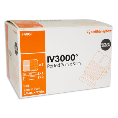 Kanylförband med injektionsport 7x9cm IV3000 steril /100