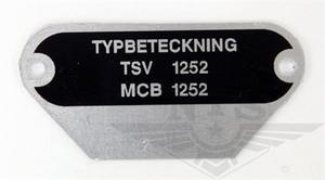 Type plate MCB 1252