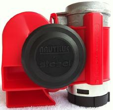 Nautilus Motorcycle air horn, Red
