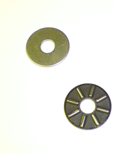 Axial clutch bearing with one washer