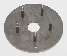 Steel clutchplate with bolts