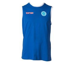 Topten Sleeveless T-Shirt WAKO för tävling, Blå