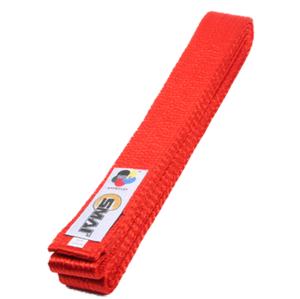 Bälte med WKF logga, Röd