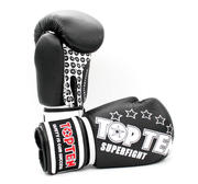 Topten Boxhandske Superfight Stars, Svart 12 -18 oz