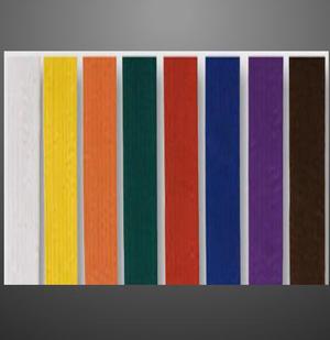 Färgade bälten standard