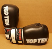 Topten Boxningshandske Fight, Svart/Vit  16 oz