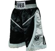 Tuf-Wear Super Pro Back Eagle Boxningsshorts, Svart/Grå XX-Large