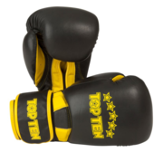 "Topten Boxingglove ""Elite"", Black/Yellow 10 oz"