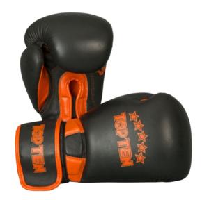 """Topten Boxningshandske """"Elite"""", Svart/Orange 12 oz"""