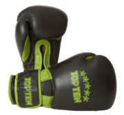 "Topten Boxingglove ""Elite"", Black/Green 16 oz"