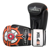 "Topten Boxingglove ""Imperium"", Black/Orange 10-12 oz"