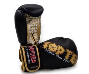 Topten Boxhandske Ultimate Women Fight, Svart/Guld 10 oz