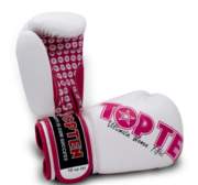 Topten Boxhandske Ultimate Women Fight, Vit/Rosa 10 oz