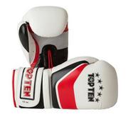 Topten Boxningshandske Stripe, Vit/Röd/Svart 8-12 oz