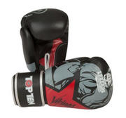 Topten Boxingglove Vikings, Black/Red 10-14 oz