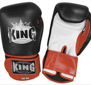 King Boxningshandske, Svart/Röd/Vit 10 oz-16 oz