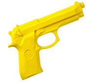 Pistol Gummi 19 cm Gul