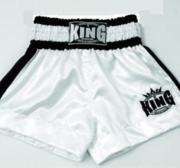King Thaishorts Plain Logo, Vit