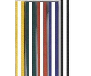 Moon bälte färgade/vit stripe 4  - 4,5 cm 300 cm