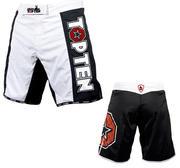 Topten MMA Board Shorts, Svart/Vit