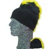 Frigg Beanie, Black/Yellow One size