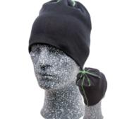 Embla Beanie, Black/Green One size
