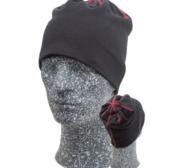 Embla Beanie, Black/Red One size