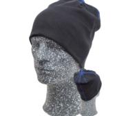 Embla Beanie, Black/Blue One size