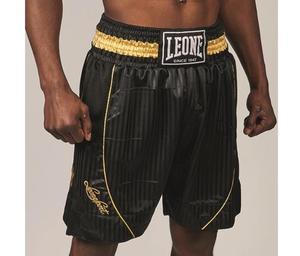 Leone Premium Boxningsshorts Svart/Guld