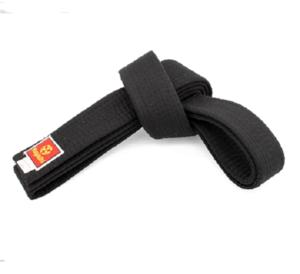 Hayashi Svart Deluxe bälte Bomull, 5 cm