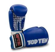 Topten Boxningshandske Fight,  Blå/Vit 10 oz
