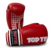 Topten Boxningshandske Fight,  Röd/Vit 10 oz