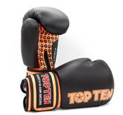 Topten Boxningshandske Fight, Svart/Orange 10 oz