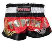 Topten Thaiboxningshorts Pro, Röd