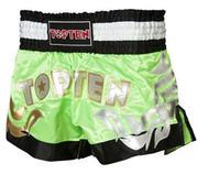 Topten Thaiboxningshorts Pro, Grön